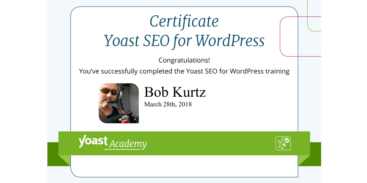 Yoast SEO Certification: Achieved