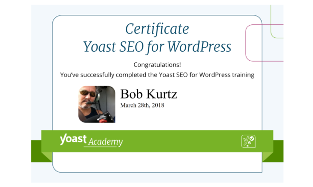 Yoast SEO Certification: Achieved